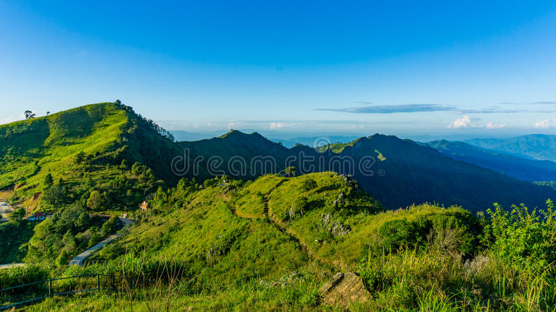 Moutain przy Chiang raja obrazy royalty free