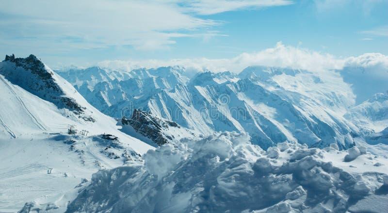 Moutain winter panorama