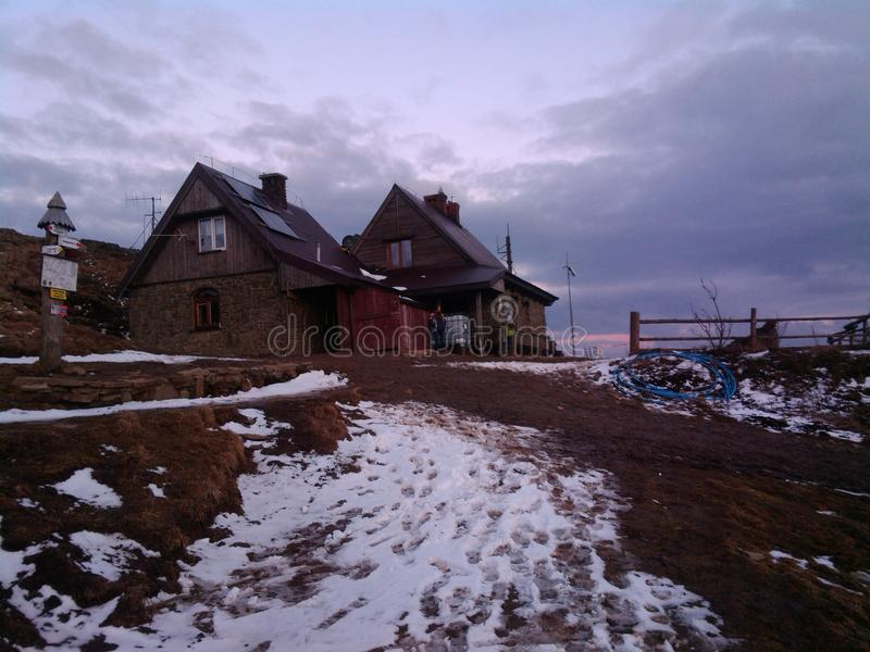 Moutains Bieszczady в зиме стоковое фото rf