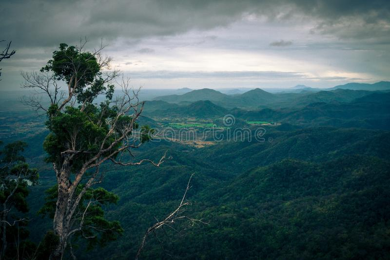 Moutains in Da Lat. Moutains in Dat Lat, in VietNam royalty free stock image