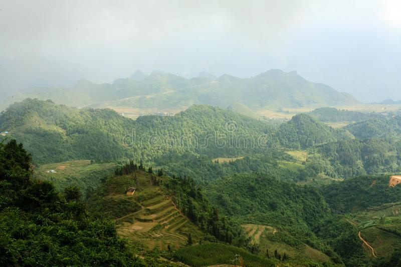 Moutains in Ha Giang fotografie stock