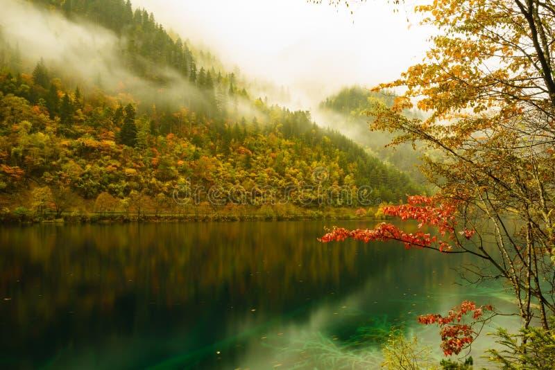 Moutains i jeziora w Jiuzhaigou dolinie zdjęcia stock