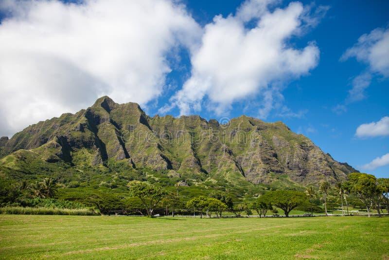 Moutains na Oahu, Hawaje fotografia royalty free