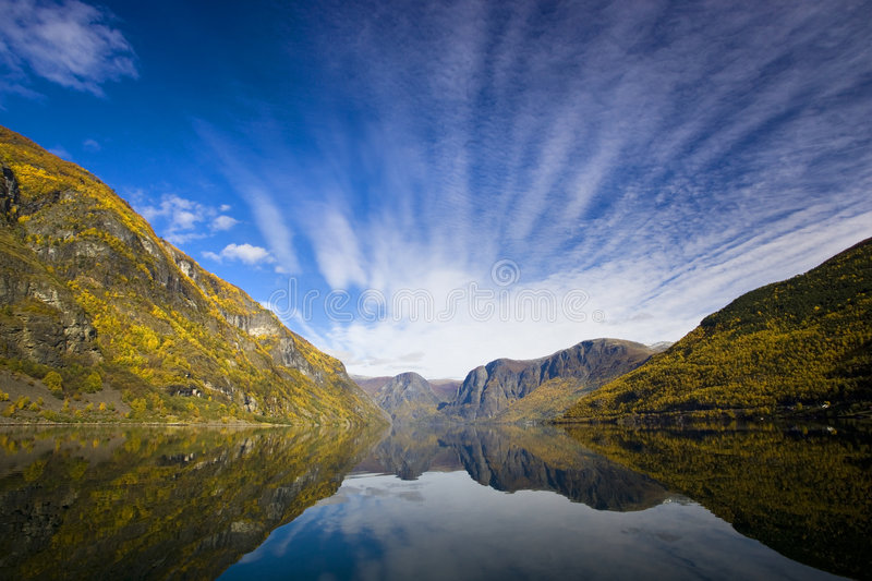 Moutains with reflexion in the water royalty free stock photography
