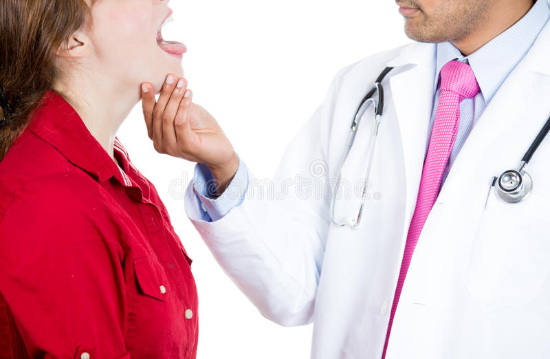 Mouth exam stock images