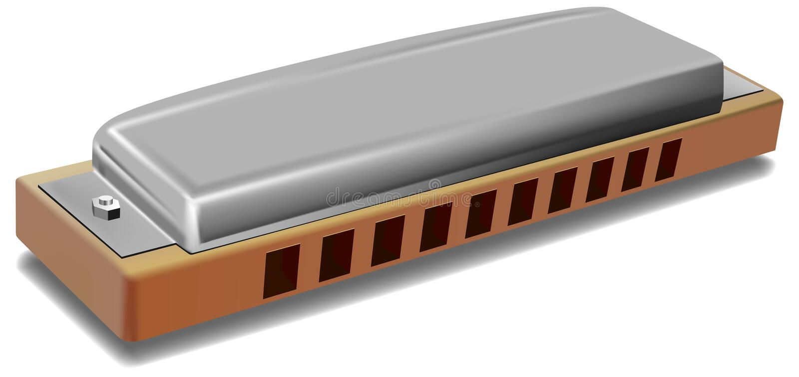 Download Mouth organ stock illustration. Image of harmonica, instrument - 13795481