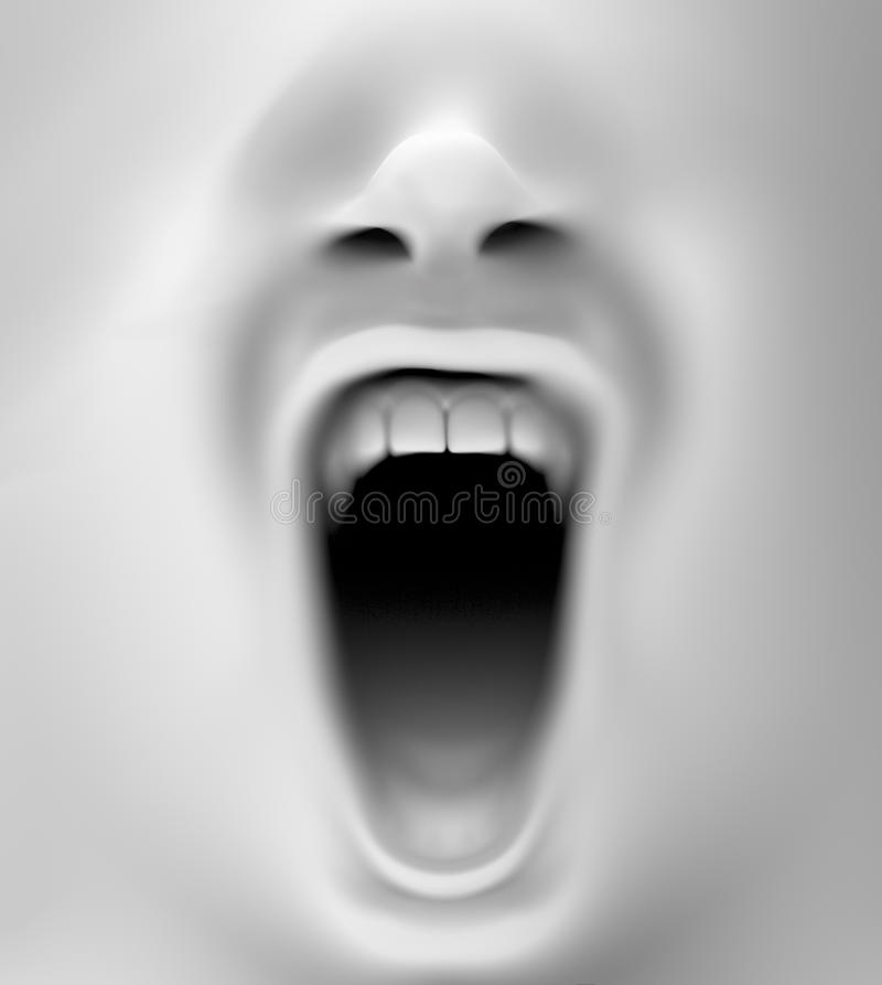 Mouth screaming. Close up with a mouth screaming royalty free stock photos