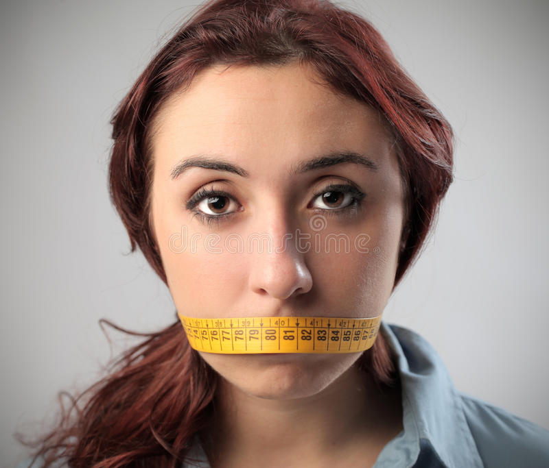 Download Mouth Shut stock photo. Image of talk, woman, concept - 27176938