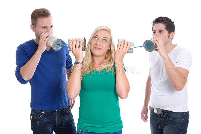 Mouth To Mouth Propaganda - Young People Stock Photography
