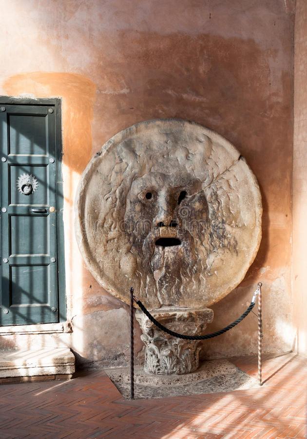 Mouth of truth in Rome royalty free stock image