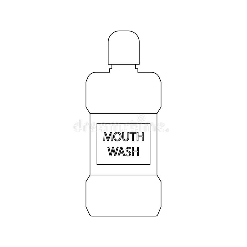 Mouth wash bottle. On the white background. Vector illustration vector illustration