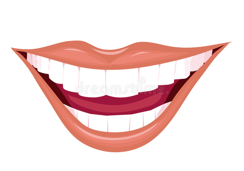 Download Mouth of the woman stock vector. Image of happiness, benevolence - 4374323