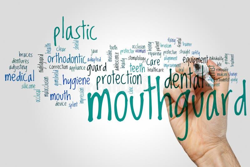 Mouthguard słowa chmura zdjęcie royalty free