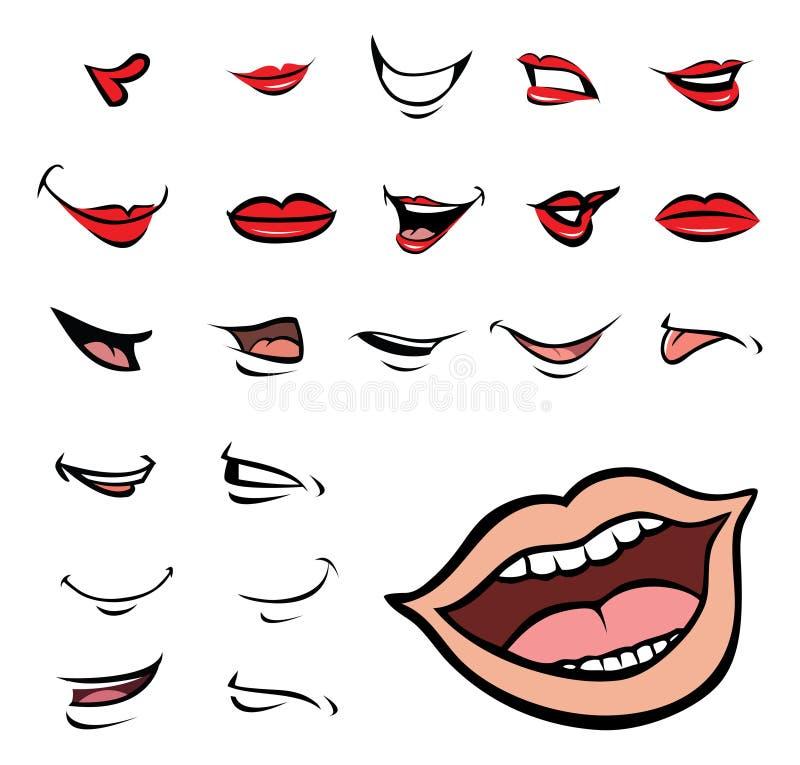 Mouths Ansammlung stock abbildung