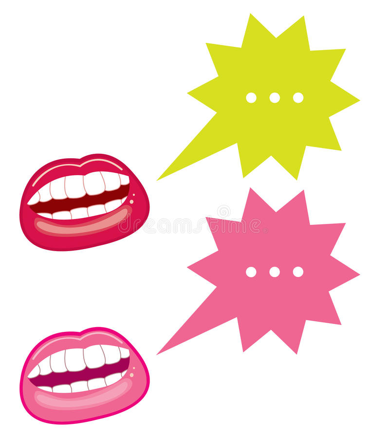 Download Mouths and speech bubbles stock vector. Image of generated - 10827812