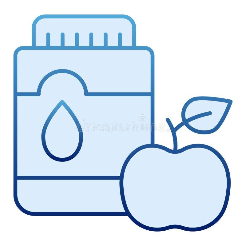 Mouthwash со значком яблока плоским Изреките антисептиковые голубые значки в ультрамодном плоском стиле Дизайн стиля градиента зу бесплатная иллюстрация