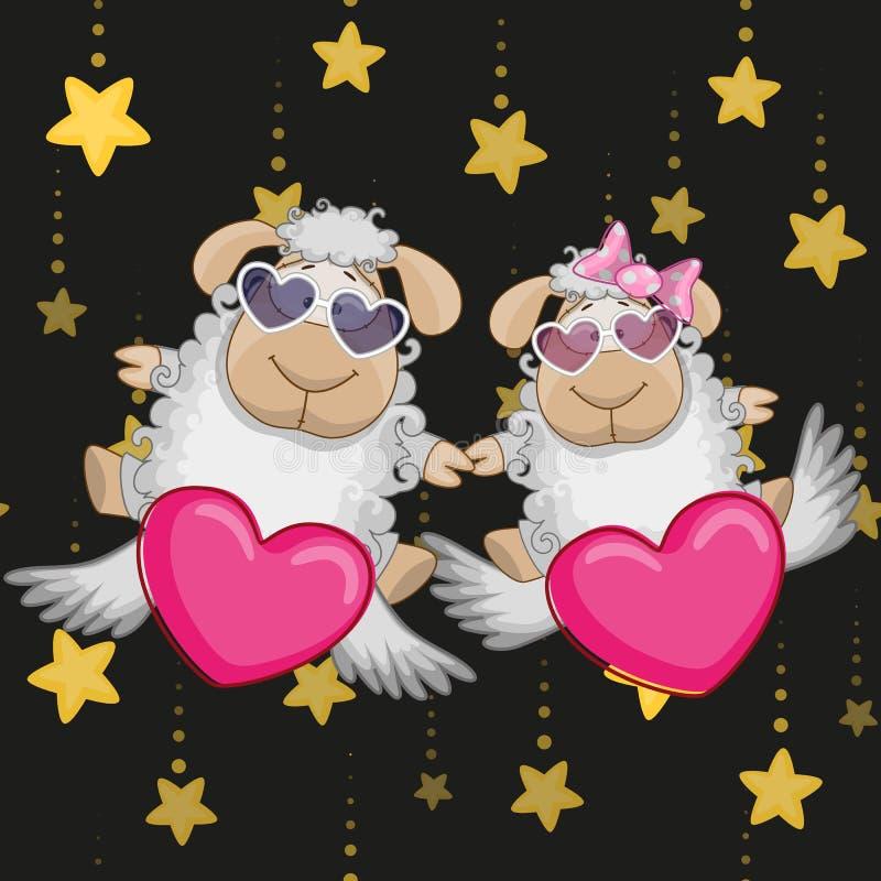 Moutons d'amants illustration stock