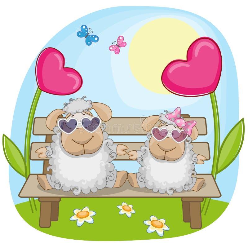 Moutons d'amants illustration de vecteur