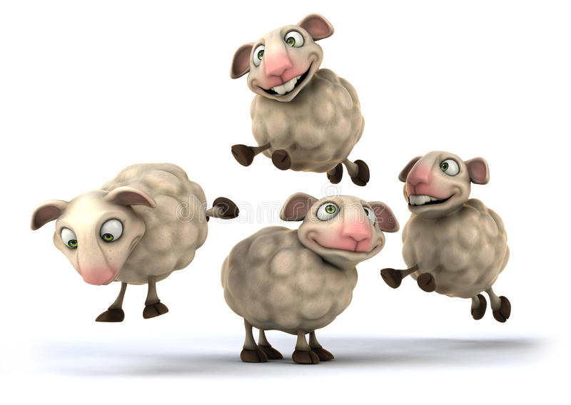 Moutons d'amusement illustration libre de droits