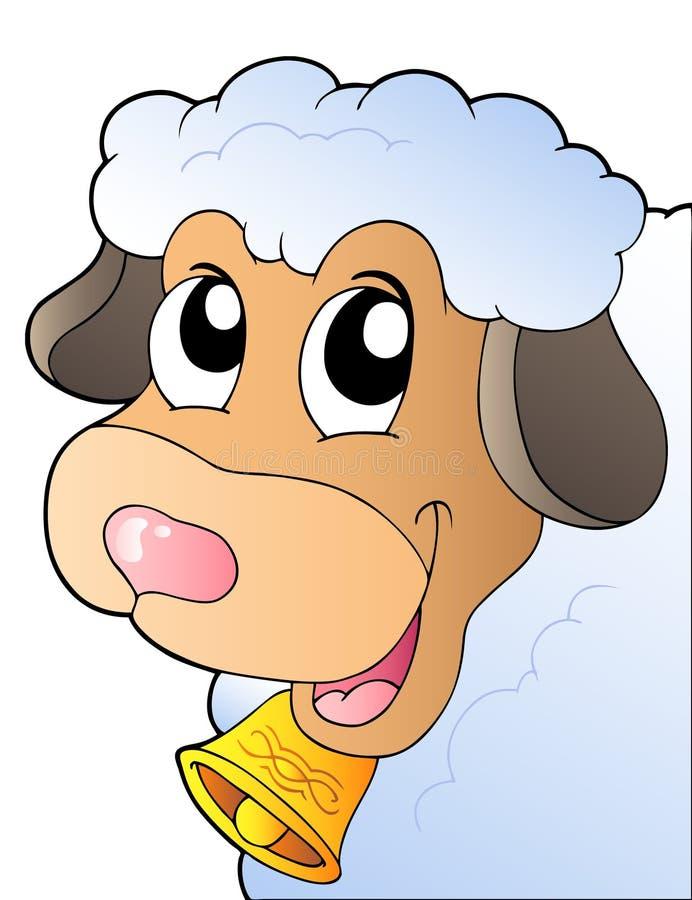 Moutons de cachette de dessin animé illustration de vecteur