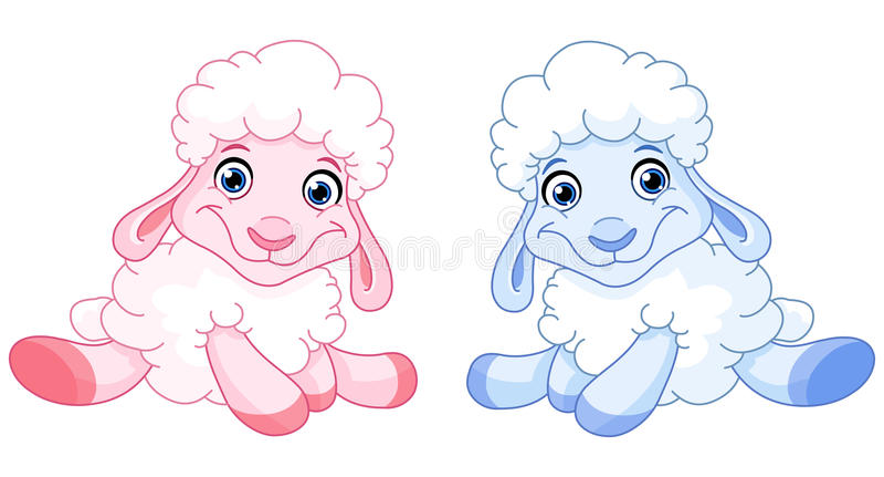 Moutons de chéri illustration libre de droits