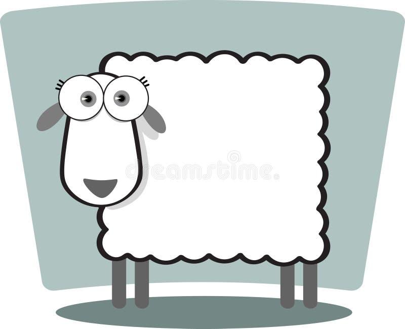 Moutons de dessin animé illustration de vecteur