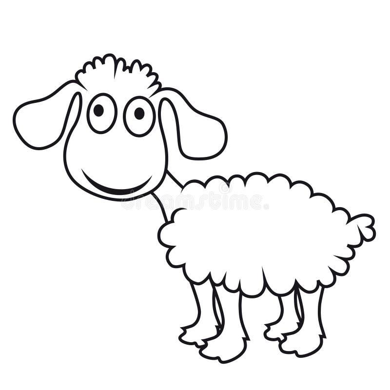 Moutons de dessin anim agneau de vecteur illustration de vecteur illustration du fond - Dessin agneau ...