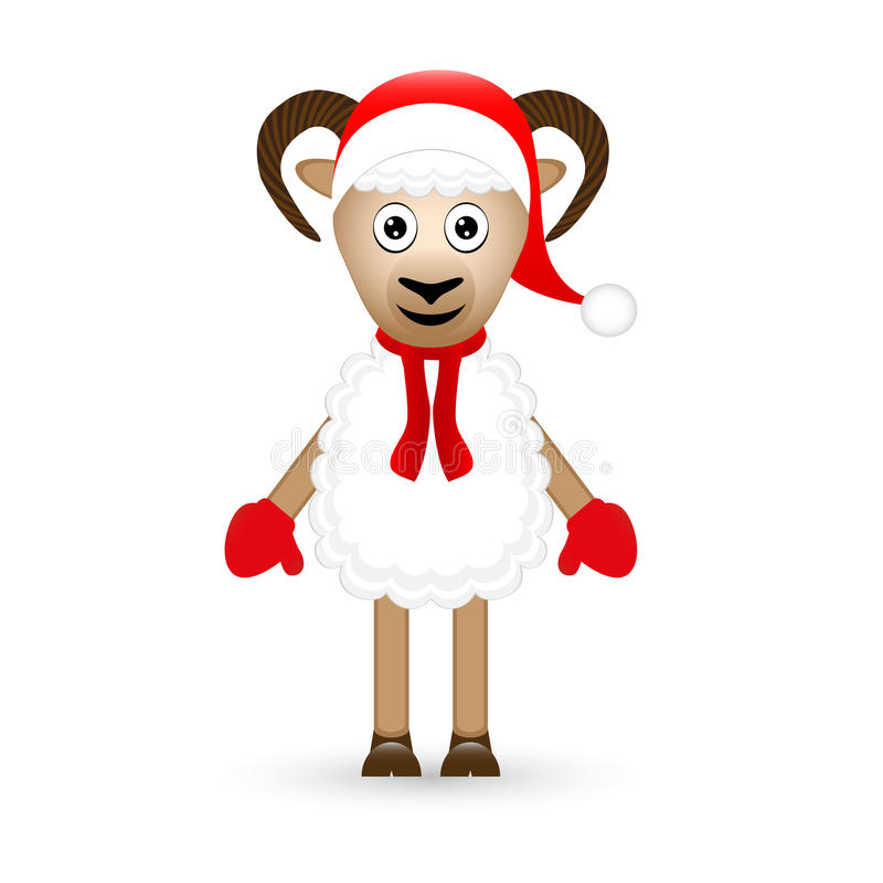 Moutons de Noël illustration libre de droits