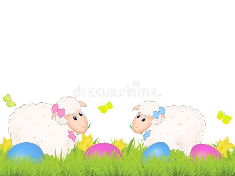 Moutons de Pâques illustration libre de droits