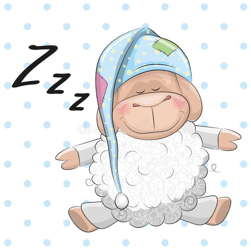 Moutons de sommeil illustration stock