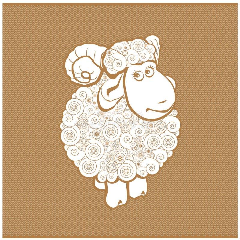 Moutons drôles illustration de vecteur