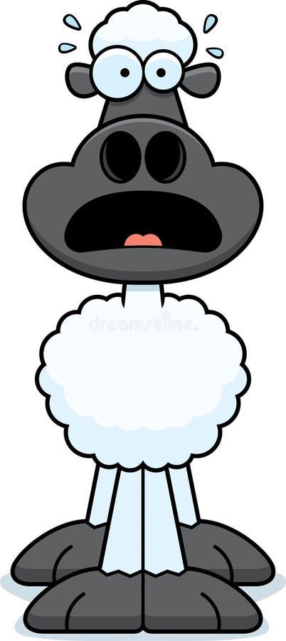 Moutons effrayés de bande dessinée illustration libre de droits