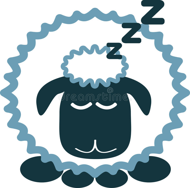 Moutons en sommeil images libres de droits