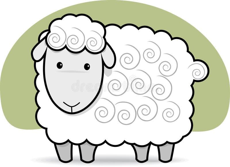 Moutons mignons illustration de vecteur