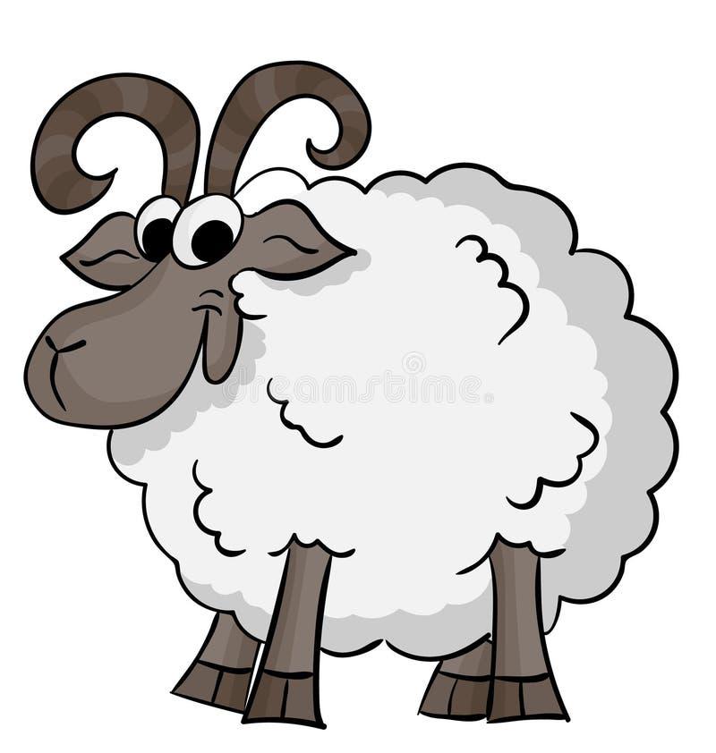 moutons mignons de dessin animé photographie stock libre de droits