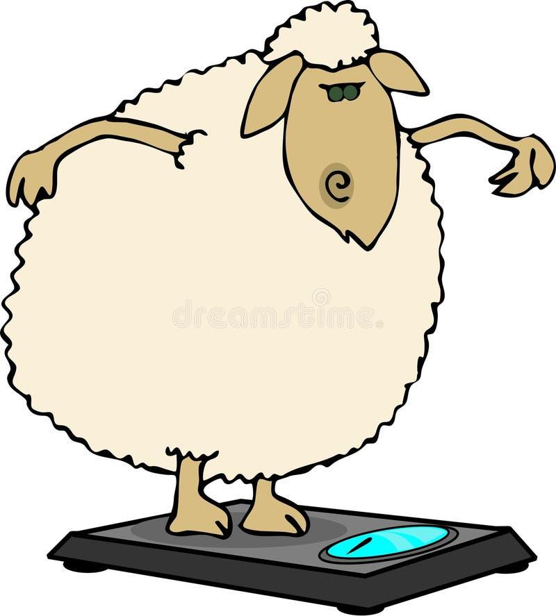 Moutons suivants un régime illustration libre de droits