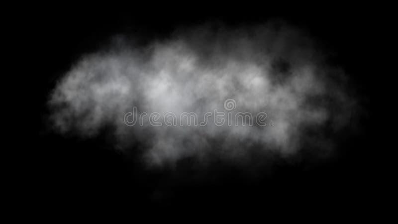 Mouvement abstrait de brouillard ou de fumée sur le fond noir images stock