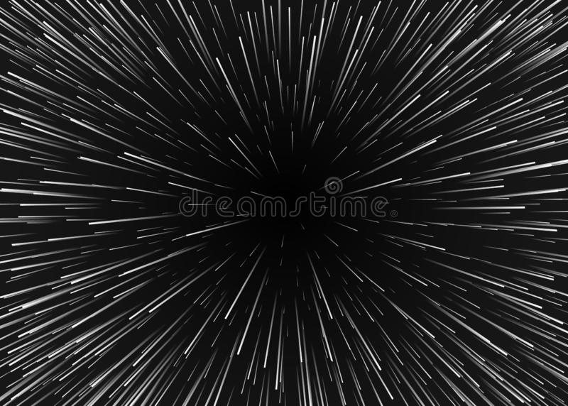 Mouvement abstrait de fond en cosmos Voyage dans le spase avec la vitesse superbe Les étoiles brouillées s'allument dans les lign illustration stock
