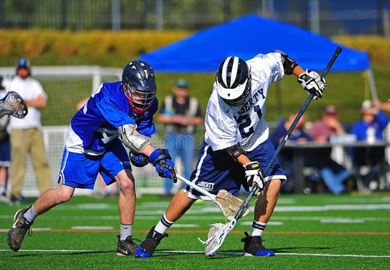 Mouvement circulaire de bille de Lacrosse images libres de droits