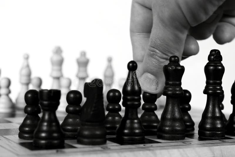 Mouvement d'échecs A photographie stock
