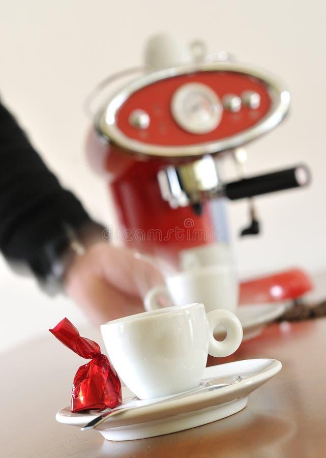 mouvement de café express de cuvette de café photos stock
