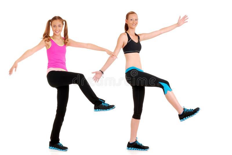 Mouvement de danse de forme physique de Zumba photographie stock
