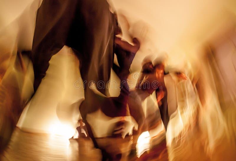 Mouvement de danseurs photographie stock libre de droits