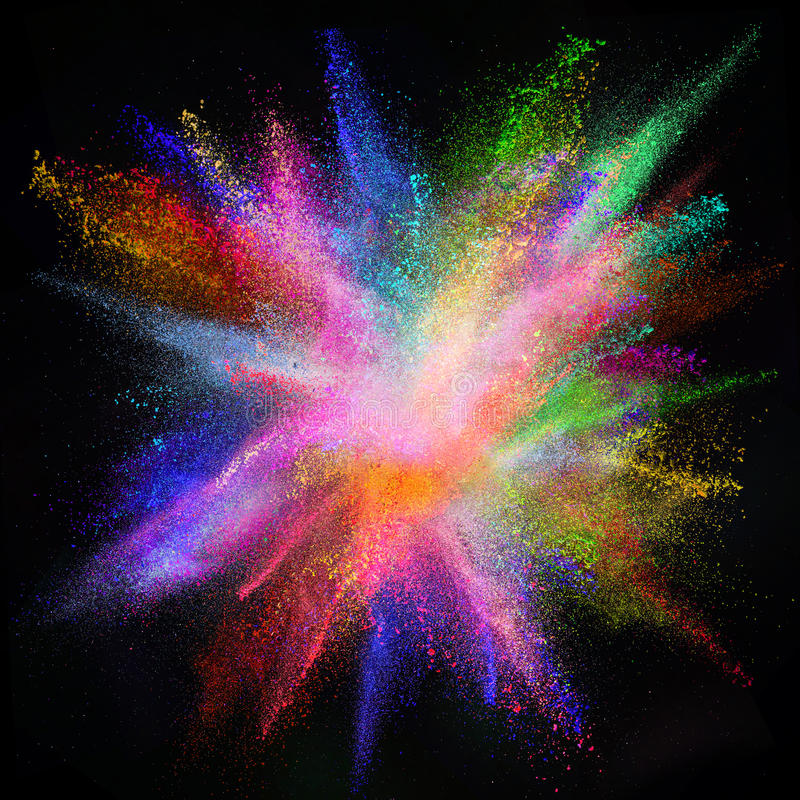 Mouvement de gel de coup de poussière coloré image stock