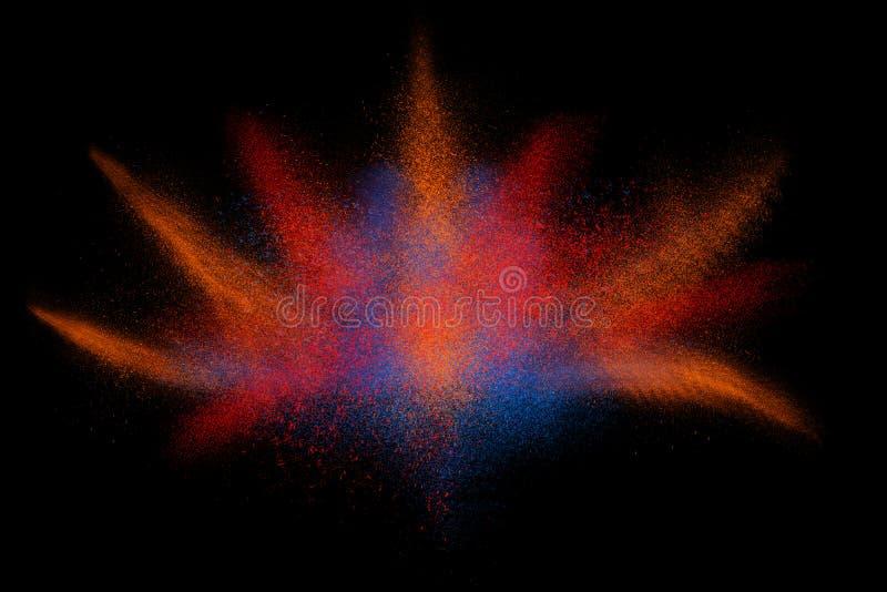 Mouvement de gel de poudre colorée éclatant illustration de vecteur
