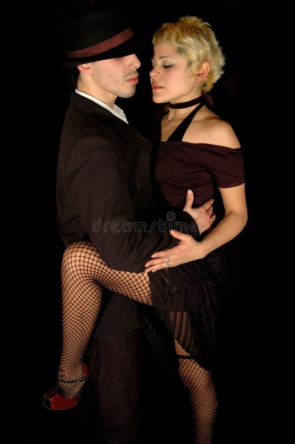Mouvement de tango photographie stock