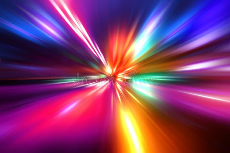 Mouvement de vitesse d'accélération sur la route de nuit photos libres de droits