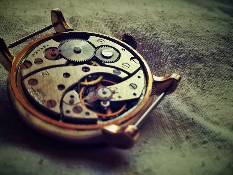 Mouvement soviétique de montre photo stock