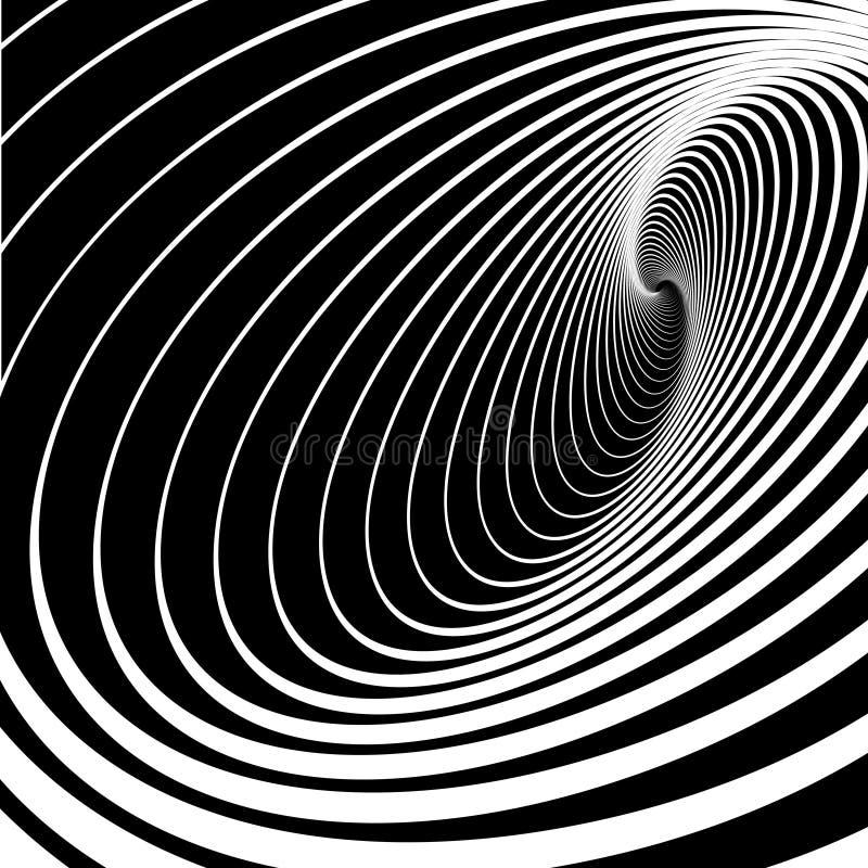 Mouvement spiralé de mouvement giratoire. Fond abstrait. illustration stock