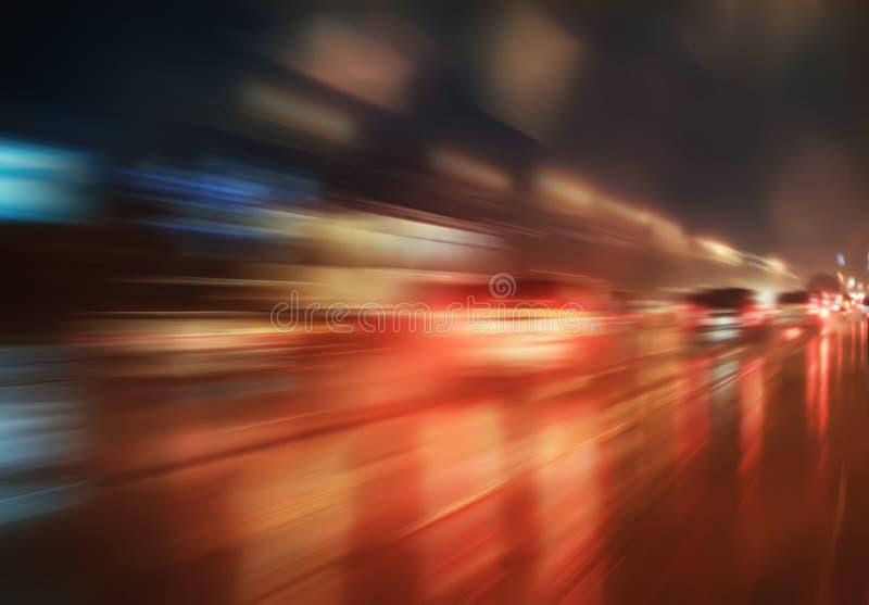 Mouvement ultra-rapide la nuit photos libres de droits